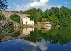 Reflecions in Pontecosi (Darea62) Tags: pontecosi lake reflections garfagnana bridge pievefosciana church maria grazie mirror history art monument