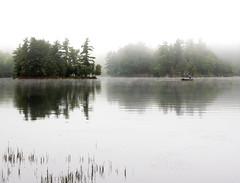 Fishing in the mist (John Ronson Photography) Tags: christielake ontario cottage fishing mist fog