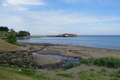 Where la Rivire de la Grande Valle flows into the Gulf of St. Lawrence in Grande Valle, Qubec (Ullysses) Tags: riviredelagrandevalle grandevalle qubec canada gaspesie hautegaspesie summer t anse bay