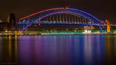 Sydney Harbour BridgeVivid 2016 (pspradbrow) Tags: sydneyharbourbridge vivid vivid2016 lights reflection water sydneyharbour harbour sydney