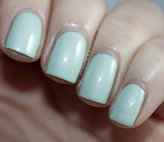 China Glaze Keep Calm, Paint On (1) (Samarium's Swatches) Tags: green shimmer seafoam mintgreen chinaglaze microshimmer