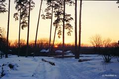 Красно-синий закат