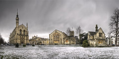 Cheltenham College... (Hans Kool) Tags: uk school winter england snow cold college grass united traditional sneeuw victorian culture kingdom gloucestershire cheltenham anglican engeland