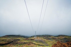 Cablecar (Matutino.) Tags: mountain cold tower fog clouds nikon wind viento adobe nubes cablecar tenerife montaa tamron teide fro 18200 niebla torreta lightroom telefrico d90