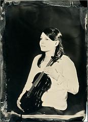 With viola (Vitaliy AK) Tags: girl 3b ambrotype wetplate viola sinar 5x7 13x18 dallmeyer