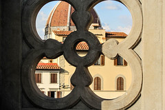 Peekaboo (Jocey K) Tags: sky italy building architecture clouds florence shadows rooftops tuscany dome pattens uffizigallery cosmostour6330