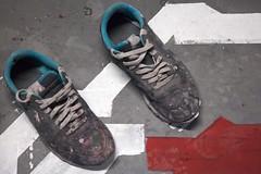 Psychopompes (Gerard Hermand) Tags: two paris france sol museum canon shoe paint ground muse peinture deux palaisdetokyo chaussure eos5dmarkii formatpaysage 1302013385 gerardhermand