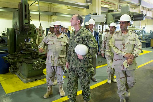 CNO Adm. Greenert tours King Abdulaziz Naval Base.