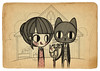 GRANT WOOD HB (Anita Mejia) Tags: life cute love illustration pen ink cat day journal kitty doodle gato kawaii sanvalentin 14defebrero chocolatita anitamejia