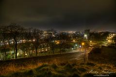 Scarborough Panorama (Martin_Finlayson) Tags: winter panorama castle night lights coast nikon view cathedral hill gimp scarborough tamron hdr d300 photomatix 1024mm