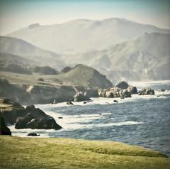 Big Sur Coastline (Dackel828) Tags: ocean landscape surf waves bigsur pch squareformat coastline centralcoast westcoast californiacoastline pacificcoasthighway scenicdrive bigsurbridge bixbycreekarchbridge dackel828