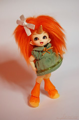 Happy Face (♪♮Sephora-Chan♮♪) Tags: orange smile ball project toy doll tiny grin daisy bjd 365 horn resin custom unicorn pong fairyland abjd articulated fang faun hooves jointed customization puki dayes histrel