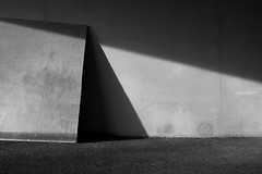 at an angle (Thomas Leth-Olsen) Tags: wall triangle board garage angles shadowplay rectangle mundanedetails sophiaantipolis leaningagainstthewall