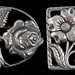 3026. Two Vintage Sterling Silver Floral Brooches
