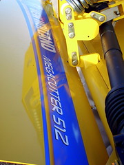 New Holland Megacutter 512. (dccradio) Tags: wisconsin mall farming equipment machinery ag agriculture wi agricultural farmequipment farmshow marshfield farmmachinery centralwisconsin shoppesatwoodridge marshfieldmall wisconsinfarming machineryshow agshowagricultureshow