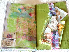 RIPPED and STICHED (fan de yan) Tags: mixedmedia textile artjournal robenmariesmith