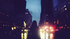 Mystery on Fifth Avenue (ginaballerina.) Tags: nyc light rain mystery night rosa 365 fifthavenue avenue cinematic fifth 365project rosajoy ginaballerina ginavasquez mysteryonfifthavenue