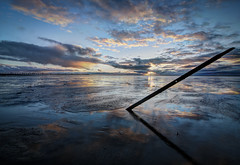 -----------/------ (Alan Drake) Tags: ocean longexposure blue light sunset sky canada colour nature water bicycle digital landscape sand nikon exposure dusk britishcolumbia candid naturallight richmond nd d7000