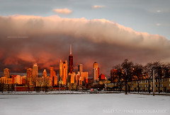 gotham city (M&D SZUPINA PHOTOGRAPHY) Tags: sunset chicago clouds downtownchicago cityskape chicagopanorama nikond5100