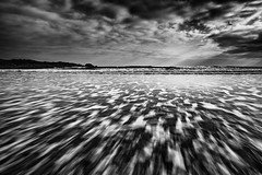 Crackington Haven (Pete_Latham) Tags: sea sky monochrome clouds movement cornwall waves moody workshop rays crackingtonhaven