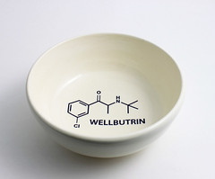 Wellbutrin Chemistry Molecule Bowl (lltownley) Tags: blackandwhite nerd psychiatry ceramics geek bowl science chemistry drugs pottery etsy molecule psychology psychiatrist wellbutrin