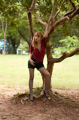 Gessinger (Vanderlei Gomes Fotografia :-]) Tags: parque brazil woman verde girl brasil model dress mulher modelo teen blonde ibirapuera garota write paulo menina so mato branca loira morena brunet parquing