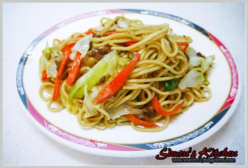 小吃攤炒麵10