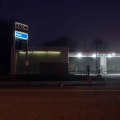 (Tim Castlen) Tags: longexposure fog baltimore gasstation remington hasselblad500cm hasselblad80mmf28 fuji160ns
