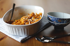 carrot halwa (mohini :: mangopowergirl.com) Tags: food dessert sweet indian desi vegetarian carrot gajar halwa
