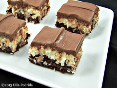 Mounds Bar Brownies (PATierney) Tags: dessert candy sweet coconut chocolate brownie quickandeasy ollapodrida pattietierney moundsbarclone