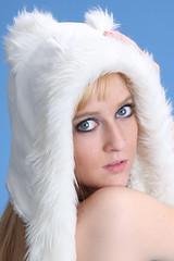 Dana - Rave outfit (Ardias) Tags: portrait cute sexy beautiful pretty natural longhair dana blonde alienbees canon40d raveoutfit
