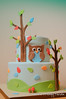 Owl Cake (Sweet Pudgy Panda) Tags: baby tree leaves cake owl fondant sweetpudgypanda