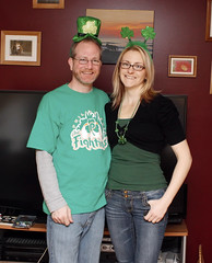 St. Patty's Day (Kerrie Lynn Photography (Sugaree_GD)) Tags: green mike saint st beads couple day tophat patricks shamrocks kerrie antenna headband pattys sugareegd