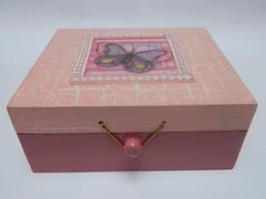 Porta jias (anac_silva) Tags: artesanato colagem mdf craquel