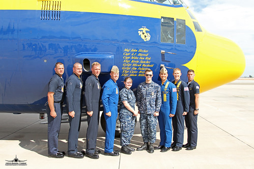 Fat Albert crew with base personnel that when on ride.