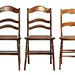 112. (3) Antique Cane Seat Chairs