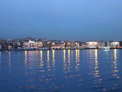 Starry(less) Night (Inceptioning) Tags: sea night lights vangogh starrynight kadky