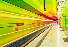 Colorful subway station (joemunich) Tags: architecture munich ubahnstation candidplatz