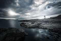 Rhue Lighthouse (Philipp Klinger Photography) Tags: ocean uk longexposure greatbritain blue light sunset sea summer vacation sun lighthouse house mountain holiday storm mountains cold reflection water rock reflections dark island islands scotland highlands nikon rocks long exposure unitedkingdom britain hiking united hill great rocky lewis scottish kingdom stormy hike atlantic hills highland filter scot nd gb scotch loch philipp isle atlanticocean broom leuchtturm isleoflewis hebrides schottland d800 ullapool rossandcromarty stornoway klinger ndfilter schottisch rhue lochbroom ndf nd1000 dcdead nikond800 hebrid philippklinger