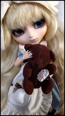 Naomi (miyavette) Tags: blue brown white girl hair japanese eyes women doll body style lolita blond wig pullip enlarge poupe seila obitsu eyechips 25cm