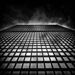 Toronto Dominion Centre No 79 Wellington St W (thelearningcurvedotca) Tags: pictures street city light sky urban blackandwhite toronto ontario canada abstract reflection building tower texture geometric window glass lines metal wall skyline architecture facade digital photoshop print square cards outdoors photography design photo downtown experimental gallery pattern exterior image photos outdoor metallic background steel fineart perspective picture images photographic canadian structure minimal financialdistrict photographs chrome card photograph wellington prints environment concept portfolio 79 lightroom greetingcards tdcentre torontodominioncentre blackwhitephotos bej briancarson thelearningcurvephotography wwwthelearningcurveca