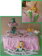 too who?...to me? ...yes you!!! (The Whole Cake and Caboodle ( lisa )) Tags: party cakes cookies cake tea chocolate alice kay disney teacher roberts february madhatter whangarei aliceinwonderland unbirthday fondant leapyear dormouse caboodle