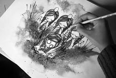 WIP (Anita Mejia) Tags: art pen ink watercolor paper traditionalart brush anitamejia
