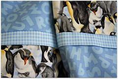 she'll be counting penguins to sleep (colorfulexpressions) Tags: penguins 6ws letters sixwordstory alphabet quotation drewbarrymore pillowcases colorfulexpressions
