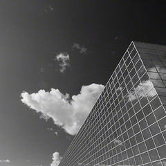 station reflections [BW edition] (Jon Downs) Tags: uk sky bw white black reflection art station clouds digital train canon reflections downs creativity photography eos mono photo jon flickr artist photographer image united central creative picture rail kingdom pic photograph milton keynes cmk 400d jondowns