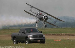 Waco JMF-7 - Franklin Smok'n Up the Field (David Lahrman) Tags: show ohio flying waco aircraft aviation smoke air airshow das performer propeller pilot prop dayton civilian biplane 2010 aeronautics vandalia jmf7