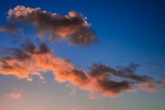 Cumulus clouds (Vincent Lammin) Tags: france clouds pentax dusk cumulus nuages crpuscule aquitaine midipyrnes
