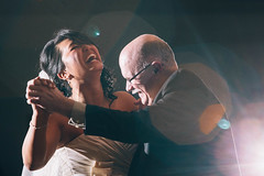 Father Daughter Laughter (MightyBoyBrian) Tags: wedding smile bride back dancing michigan father laughter f28 flushing 70200mm daddydaughter rachelelijah