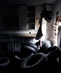 Luring. (Amazaday) Tags: light house abandoned home girl self canon dark hair photography scary hands alone photographer shadows magic surreal creepy mysterious conceptual 60d