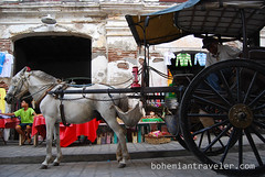 calesa horse drawn cart Vigan (BohemianTraveler) Tags: old city horse heritage architecture island town site asia pacific district philippines colonial chinese unesco mexican spanish filipino sur vigan ilocos kalesa luzon calesa mestizo